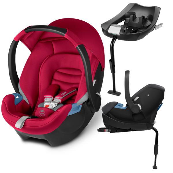 Cbx by Cybex Aton + ISOFIX Base 2-Fix Crunchy Red Bērnu autosēdeklis 0-13 kg