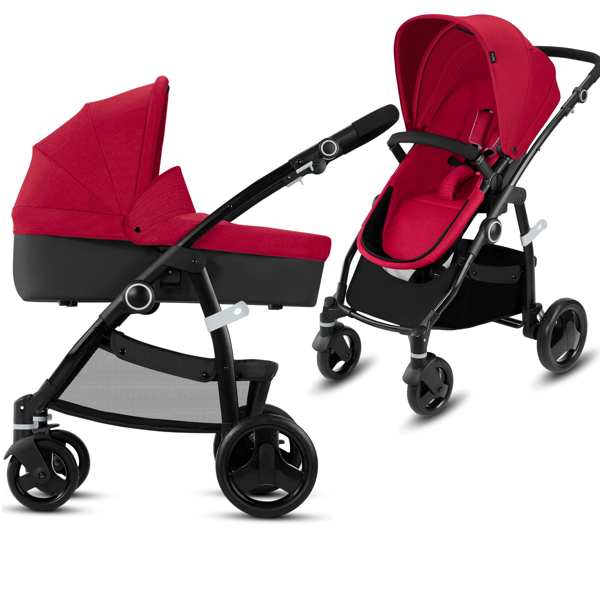 CBX by Cybex Leotie Pure Crunchy Red Bērnu rati 2in1