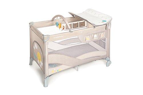 Ceļojumu gultiņa manēža Baby Design DREAM Sky beige 09 (melange) 2 līmeņi