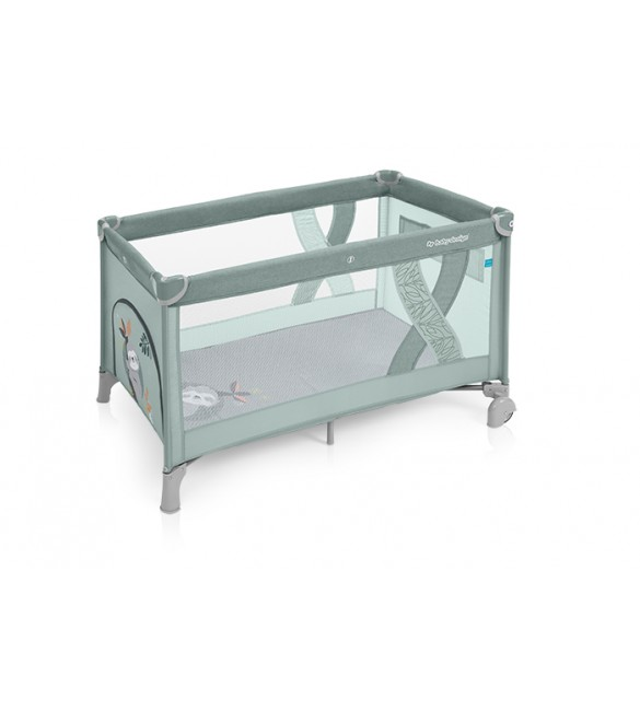 Ceļojumu gultiņa manēža Baby Design SIMPLE Sloth green 04 (melange)
