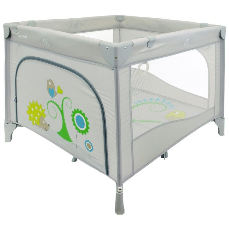 Ceļojumu gultiņa manēža BabyMix 106x106 cm SQ106-2GREY