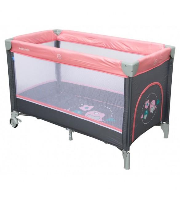 Ceļojumu gultiņa manēža BabyMix SPARROWS 8052-186 pink