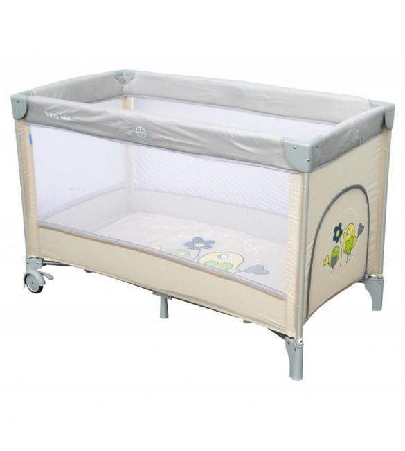 Ceļojumu gultiņa manēža BabyMix SPARROWS 8052-187 beige