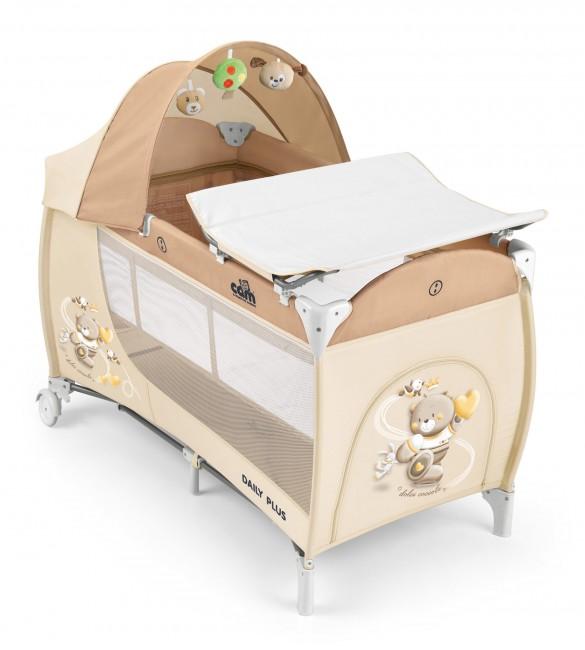 Ceļojumu gultiņa manēža CAM DAILY PLUS 240 orso (2 līmeņi)