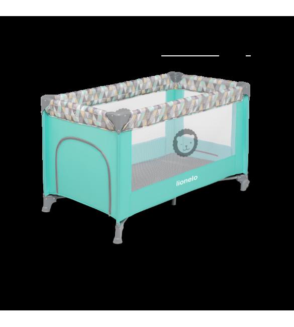Ceļojumu gultiņa manēža Lionelo ADRIAA turquoise scandi