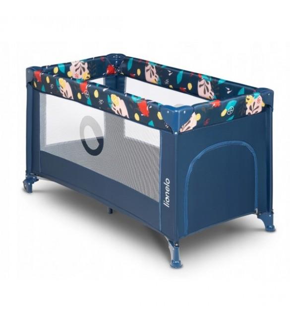 Ceļojumu gultiņa manēža Lionelo STEFI blue navy