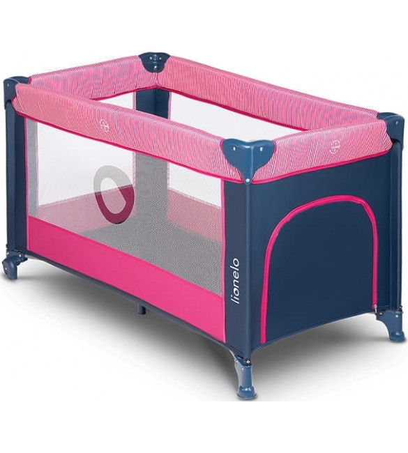 Ceļojumu gultiņa manēža Lionelo STEFI pink