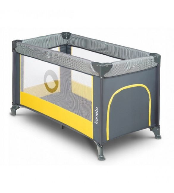 Ceļojumu gultiņa manēža Lionelo STEFI yellow