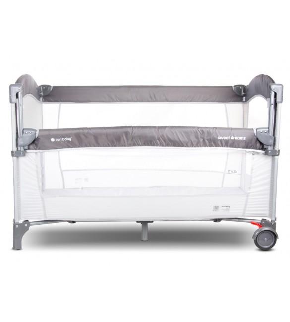 Ceļojumu gultiņa manēža Sunbaby grey 2 līmeņi