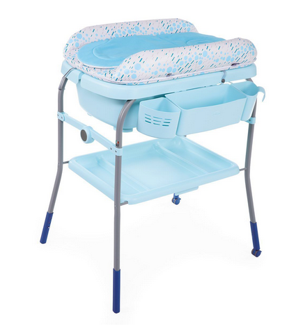 Chicco Cuddle & Bubble 2in1 Ocean Bērnu galds ar vanniņu un pārtinamo virsmu