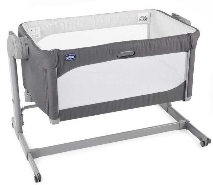 Chicco Next2Me Magic New Moon Grey Bērnu gulta-šūpulis