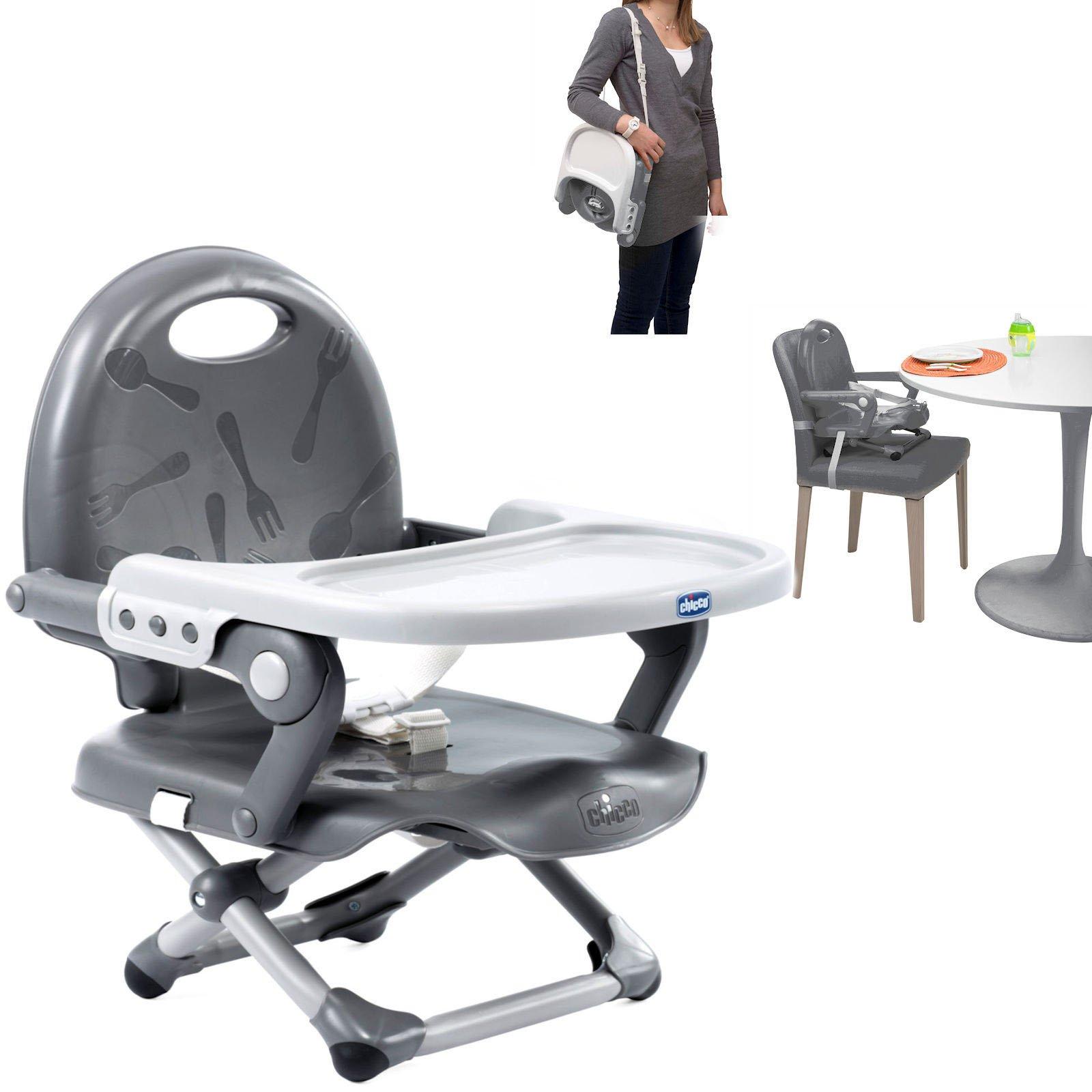 Chicco Pocket Snack Dark grey Barošanas krēsliņš