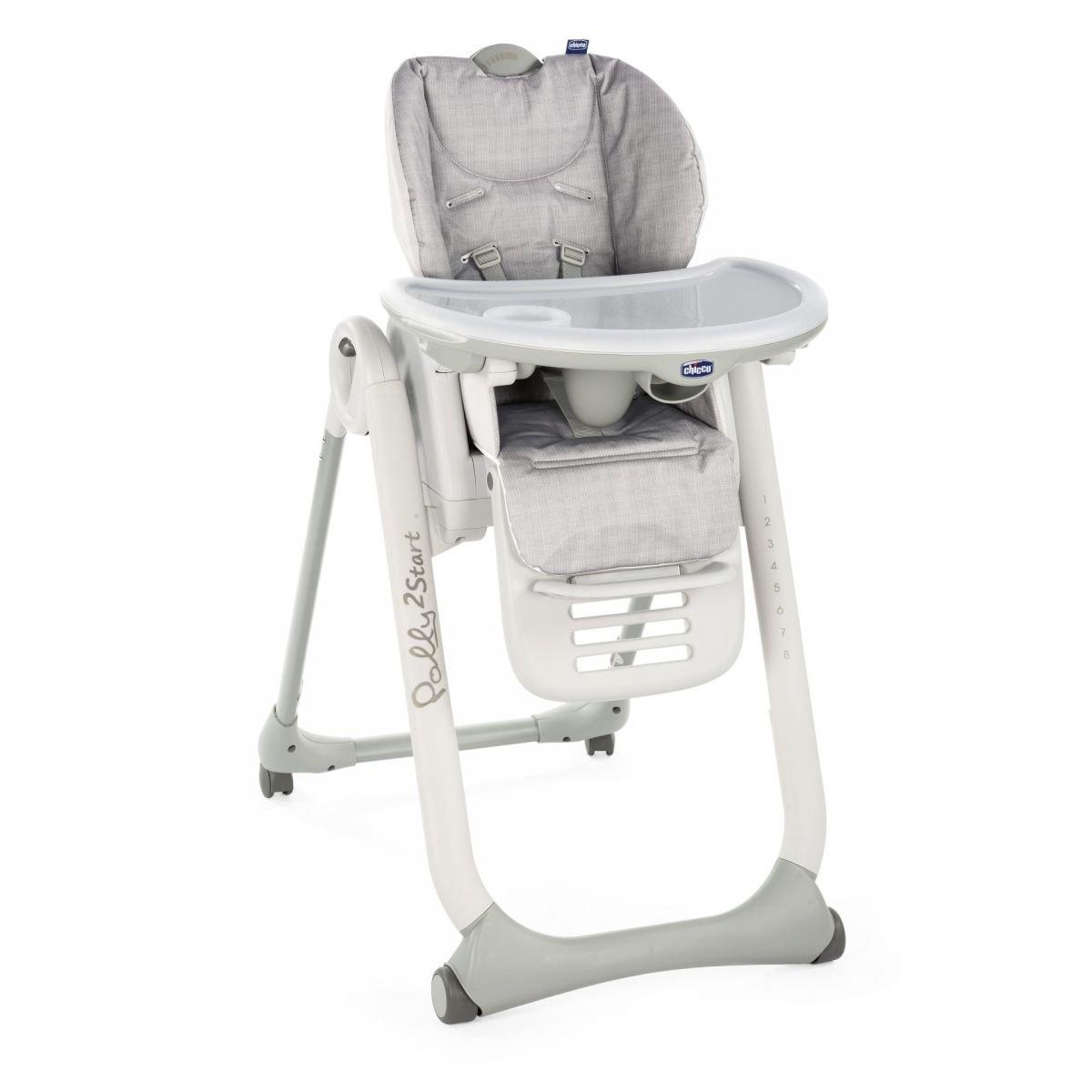 Chicco Polly 2 Start Happy Silver Barošanas krēsliņš