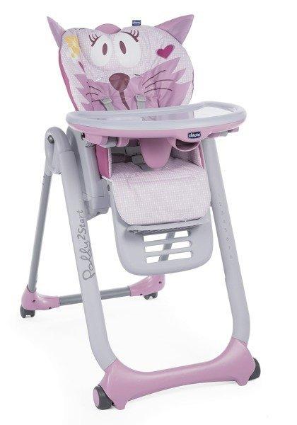 Chicco Polly 2 Start Miss Pink Barošanas krēsliņš