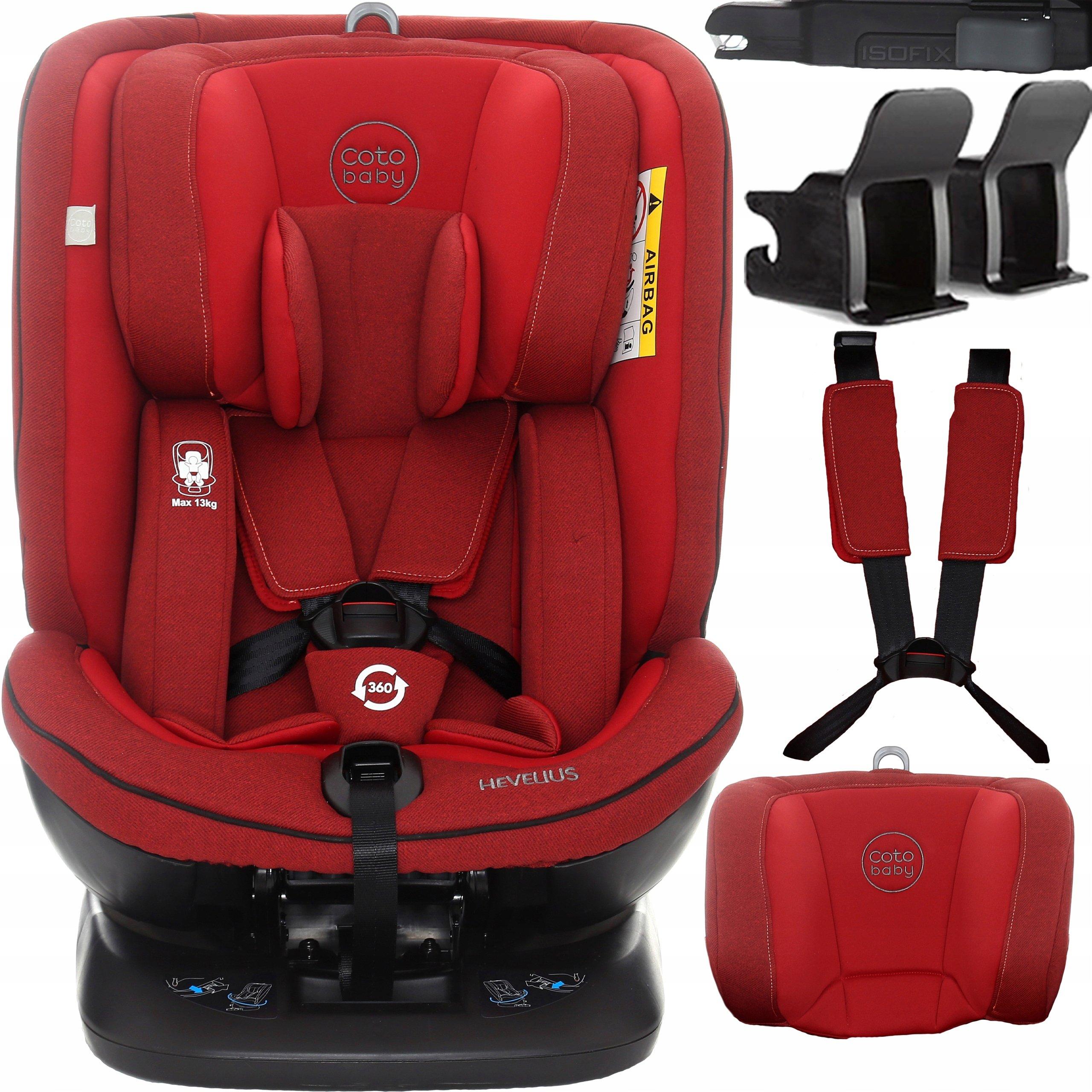 Coto Baby Hevelius Red melange 32 Bērnu autosēdeklis 0-36 kg