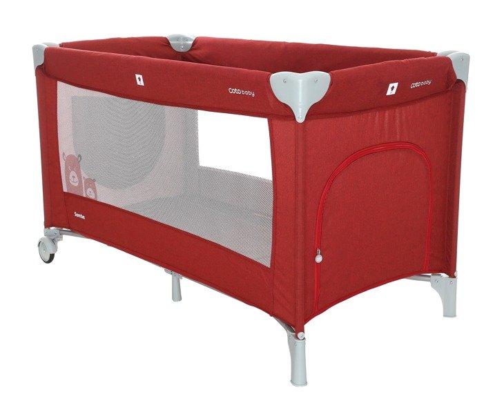 Coto Baby Samba 29 RED LINEN Ceļojumu gultiņa manēža
