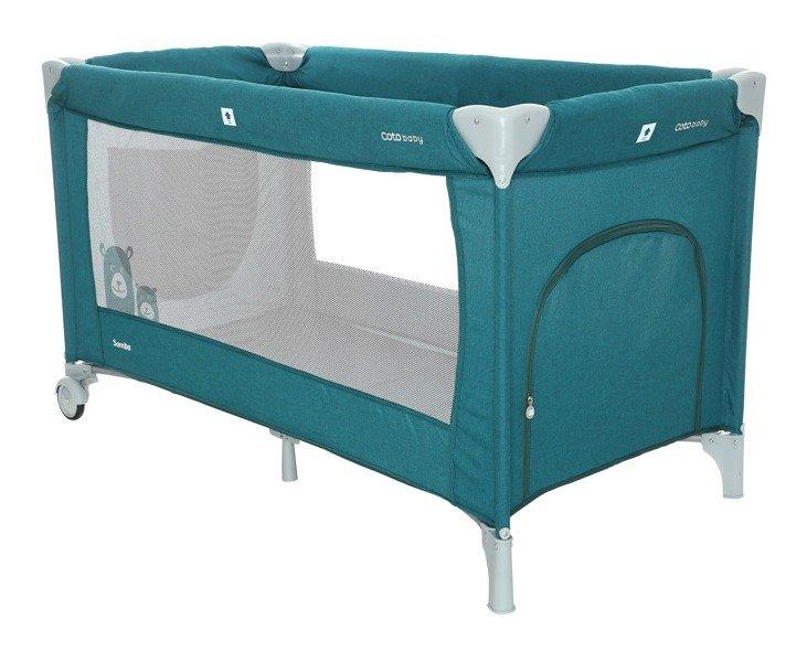 Coto Baby Samba 30 TURQUOISE LINEN Ceļojumu gultiņa manēža
