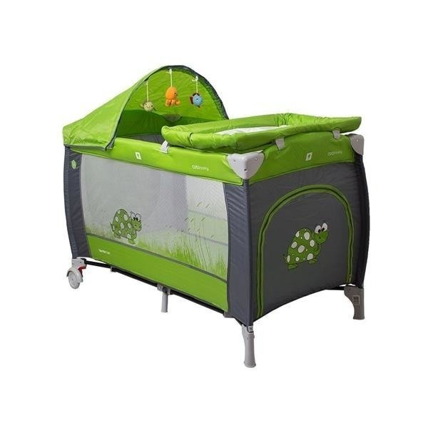 Coto Baby Samba Lux 05 GREEN GREY Ceļojumu gultiņa manēža