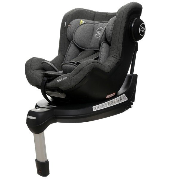 Coto Baby Solario Grey melange 31 Black Bērnu autosēdeklis 0-18 kg