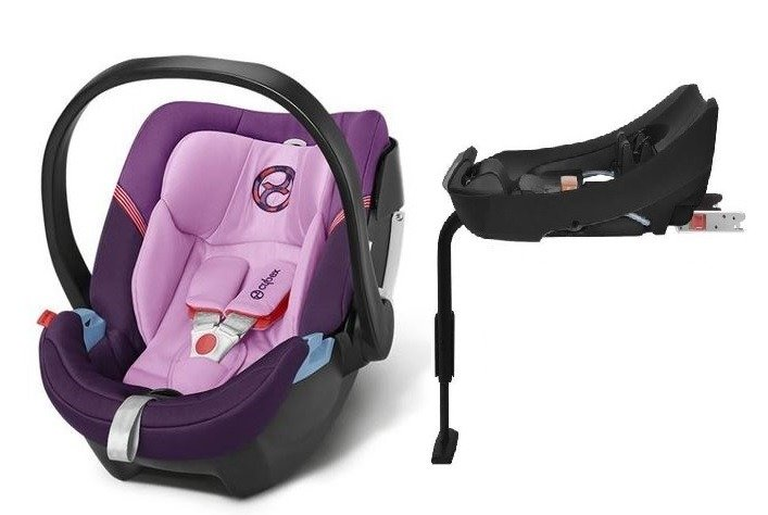 Cybex Aton 4 + ISOFIX Base 2-fix Grape Juice Bērnu autosēdeklis 0-13 kg