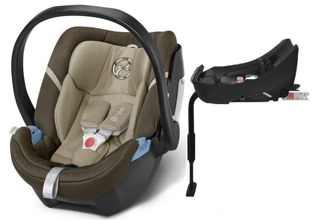 Cybex Aton 4 + ISOFIX Base 2-fix Olive Khaki Bērnu autosēdeklis 0-13 kg