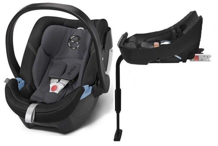 Cybex Aton 4 + ISOFIX Base 2-fix Phantom Grey Bērnu autosēdeklis 0-13 kg