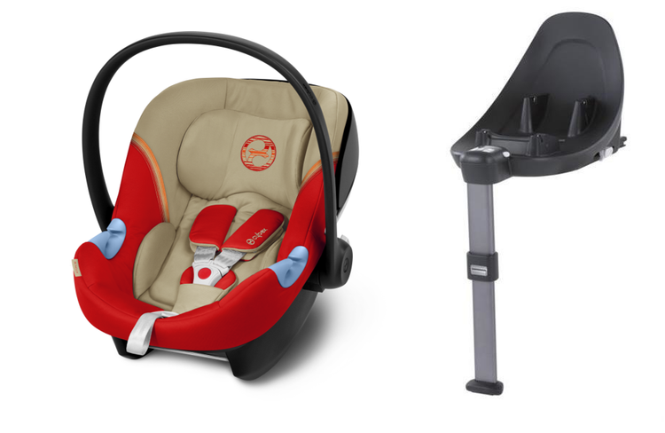 Cybex Aton M i-Size + ISOFIX Base M Autumn Gold 2020 Bērnu autosēdeklis 0-13 kg