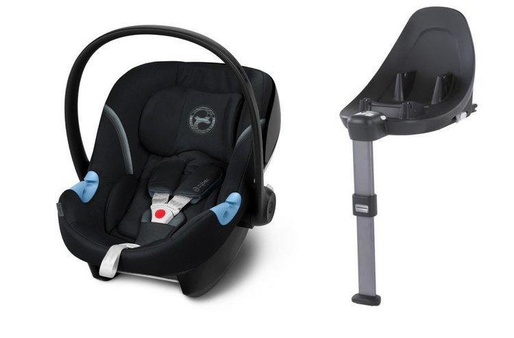 Cybex Aton M i-Size + ISOFIX Base M Deep Black Bērnu autosēdeklis 0-13 kg