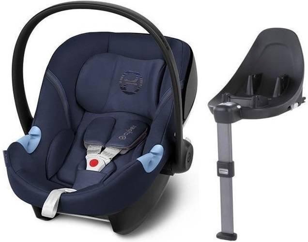 Cybex Aton M i-Size + ISOFIX Base M Denim Blue Bērnu autosēdeklis 0-13 kg