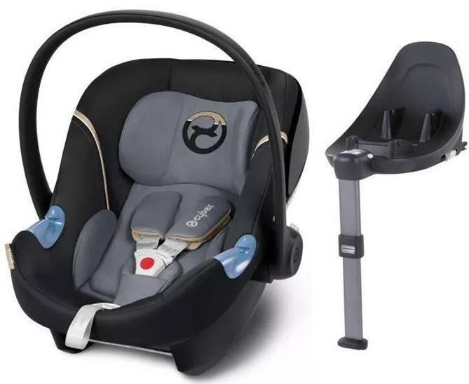 Cybex Aton M i-Size + ISOFIX Base M Graphite Black Bērnu autosēdeklis 0-13 kg