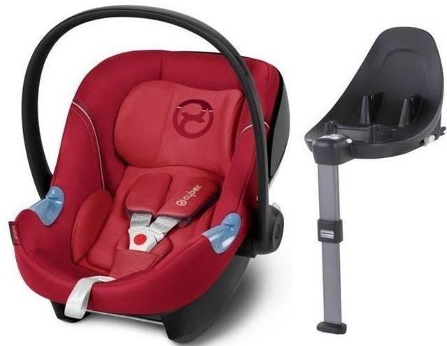 Cybex Aton M i-Size + ISOFIX Base M Infra Red Bērnu autosēdeklis 0-13 kg
