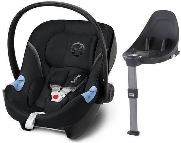 Cybex Aton M i-Size + ISOFIX Base M Lavastone Black Bērnu autosēdeklis 0-13 kg