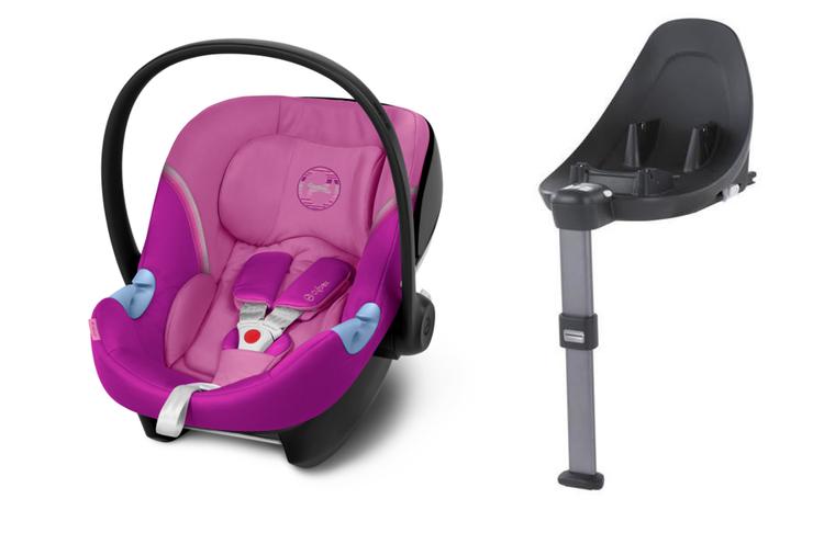 Cybex Aton M i-Size + ISOFIX Base M Magnolia Pink Bērnu autosēdeklis 0-13 kg