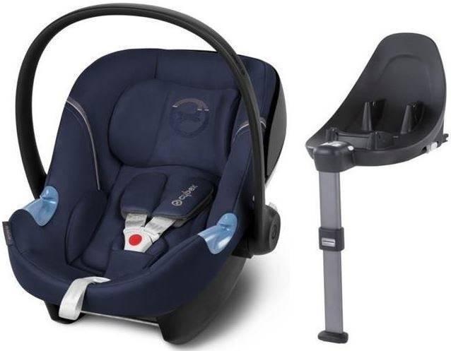 Cybex Aton M i-Size + ISOFIX Base M Midnight Blue Bērnu autosēdeklis 0-13 kg