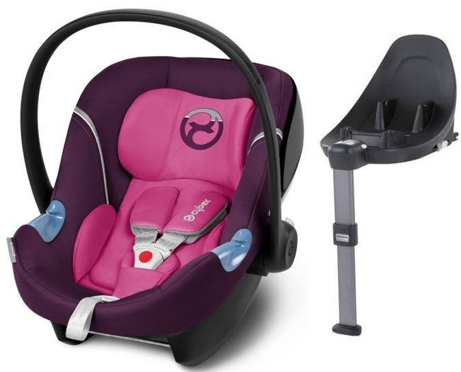 Cybex Aton M i-Size + ISOFIX Base M Mystic Pink Bērnu autosēdeklis 0-13 kg