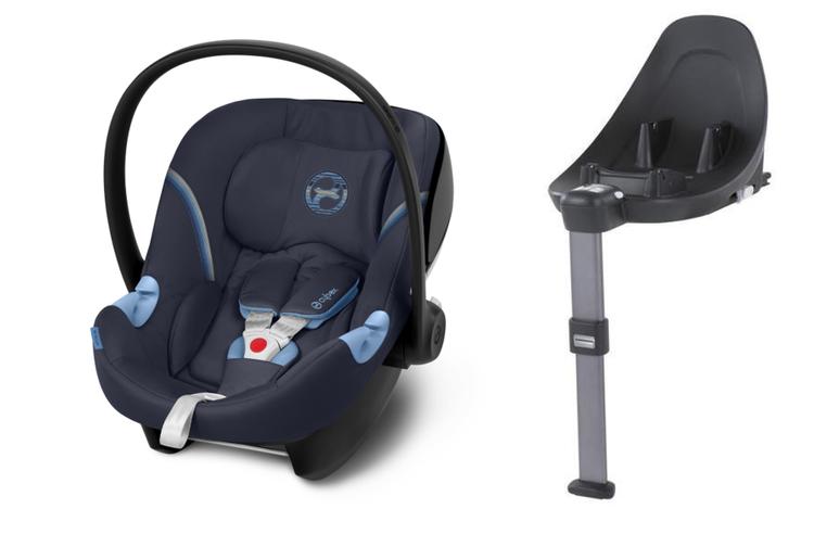 Cybex Aton M i-Size + ISOFIX Base M Navy Blue Bērnu autosēdeklis 0-13 kg