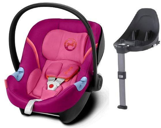 Cybex Aton M i-Size + ISOFIX Base M Passion Pink Bērnu autosēdeklis 0-13 kg