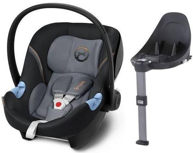 Cybex Aton M i-Size + ISOFIX Base M Pepper Black Bērnu autosēdeklis 0-13 kg