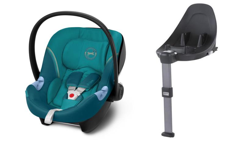 Cybex Aton M i-Size + ISOFIX Base M River Blue Bērnu autosēdeklis 0-13 kg