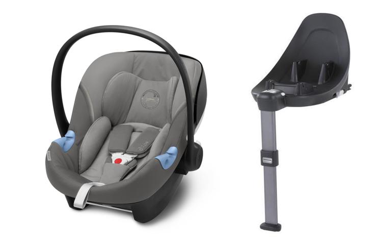 Cybex Aton M i-Size + ISOFIX Base M Soho Grey Bērnu autosēdeklis 0-13 kg