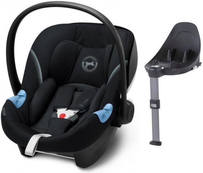 Cybex Aton M i-Size + ISOFIX Base M Stardust Black Bērnu autosēdeklis 0-13 kg
