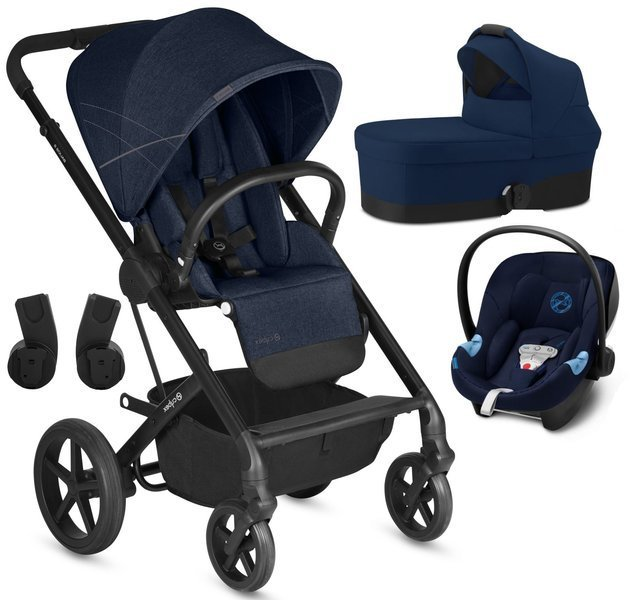 Cybex Balios S Denim Blue + Aton 5 Bērnu rati 3in1