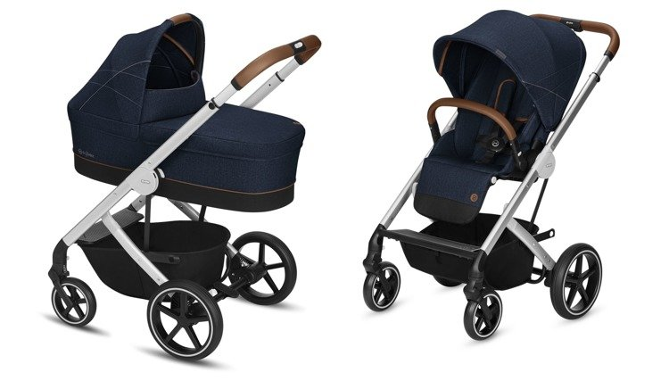 Cybex Balios S Denim Denim Blue Bērnu rati 2in1