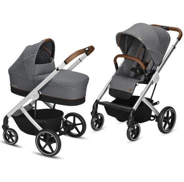Cybex Balios S Denim Manhattan Grey Bērnu rati 2in1