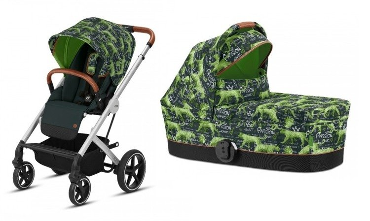 Cybex Balios S Fashion Respect Green Bērnu rati 2in1