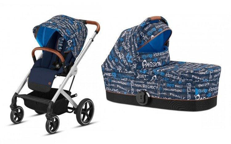 Cybex Balios S Fashion Trust Blue Bērnu rati 2in1