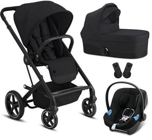 Cybex Balios S Lux Deep Black + Aton B I-Size Bērnu rati 3in1