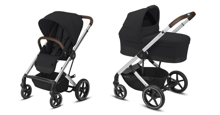 Cybex Balios S Lux Deep Black Bērnu rati 2in1