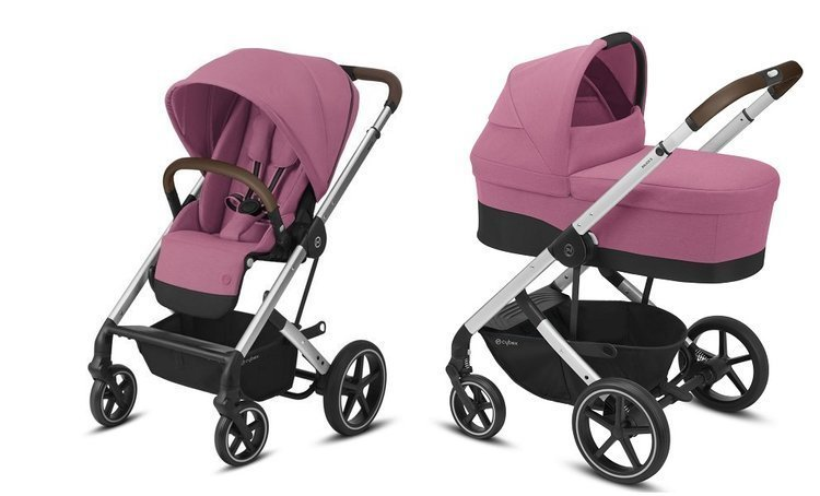 Cybex Balios S Lux Magnolia Pink Bērnu rati 2in1
