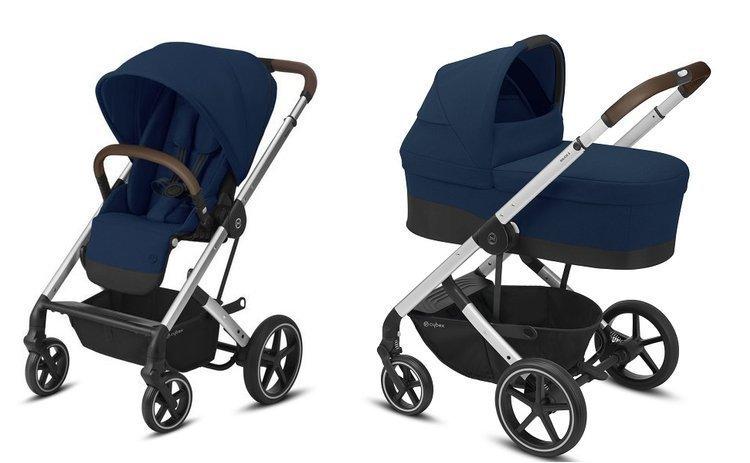 Cybex Balios S Lux Navy Blue Bērnu rati 2in1